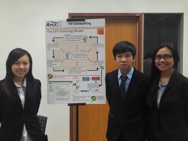 Mahasiswa School of IS mengikuti lomba APEX Business-IT Global Case Challenge 2014 di Singapore Management University