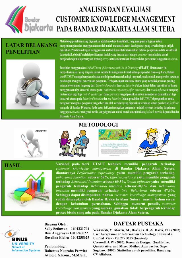 Analisis dan Evaluasi Customer Knowledge Management pada Bandar Djakarta Alam Sutera (poster)